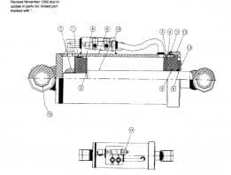 236423011 Ремкомплект гидроцилиндра подъема лафета Vermeer 24х40А